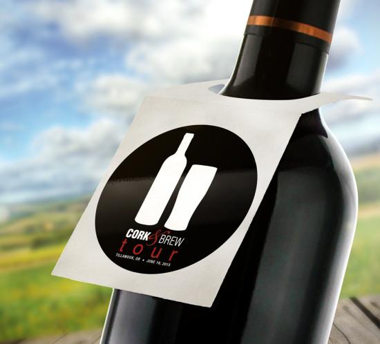 Cork & Brew Tour - Oregon graphic design logo branding