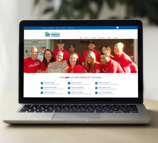 Tillamook County Habitat for Humanity - Oregon web design