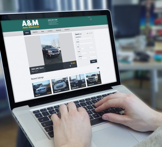A & M Auto - Oregon web design