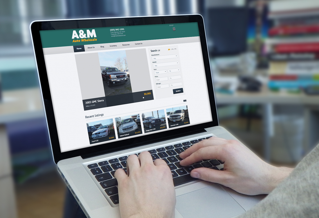 A m auto tillamook design marketing for A m motors