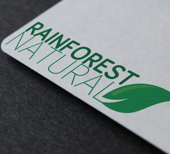 Rainforest Natural Oregon logo design branding