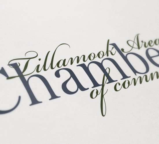 Tillamook Chamber of Commerce - Oregon graphic design