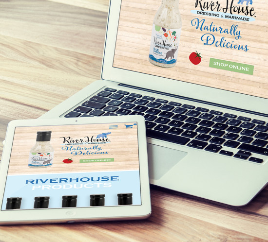 Riverhouse Dressing - Oregon web design