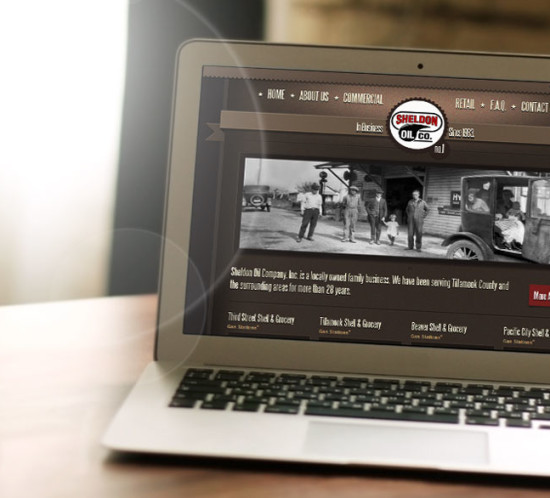 Sheldon Oil Company - Oregon web design