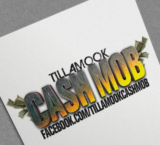 Tillamook Cash Mob - Oregon logo design