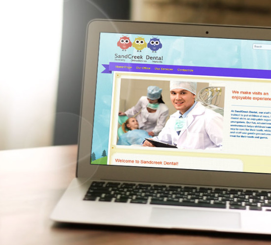 Sand Creek Dental - Oregon web design