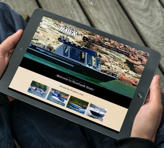 Riverhawk Boats - Oregon web design