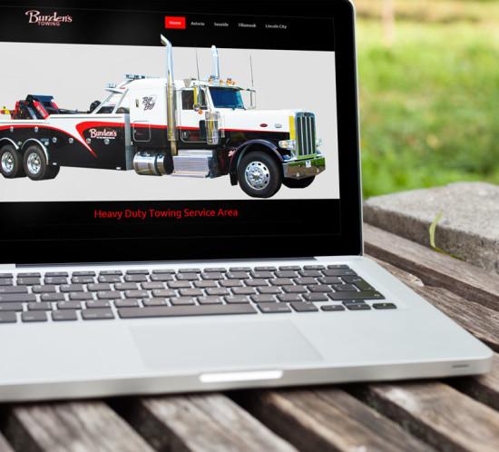 Burden's Towing - Oregon web design
