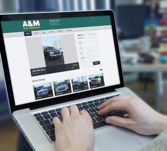 A & M Auto - Oregon web design