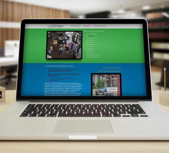 Tillamook Bay Community College - Oregon web design