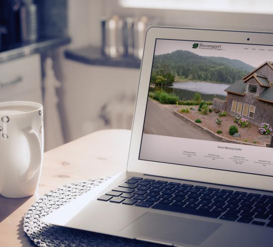 Baumgart Construction - Oregon web design