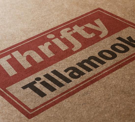 Thrifty Tillamook - Oregon logo design