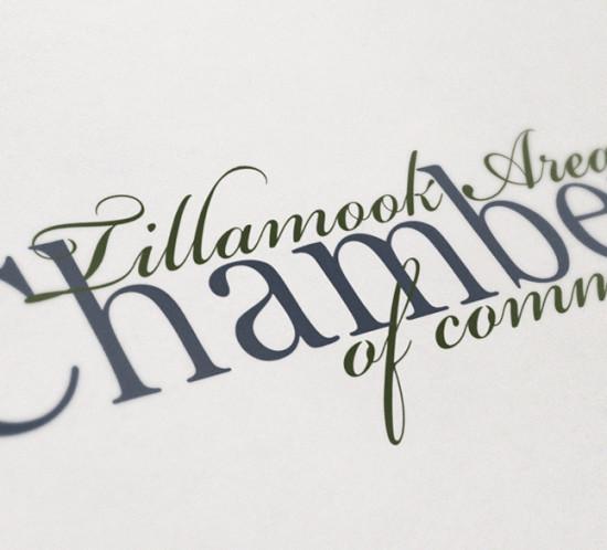 Tillamook Chamber of Commerce - Oregon graphic design