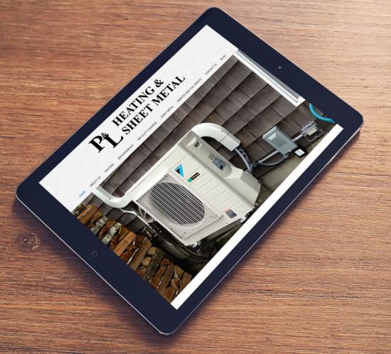 P & L Heating and Sheet Metal - Oregon web design