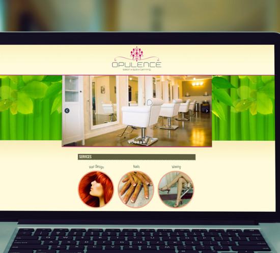 Opulence Salon - Oregon web design