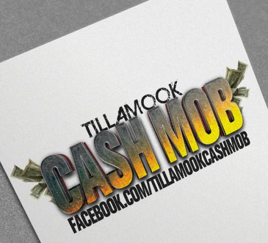 Tillamook Cash Mob - Oregon logo design
