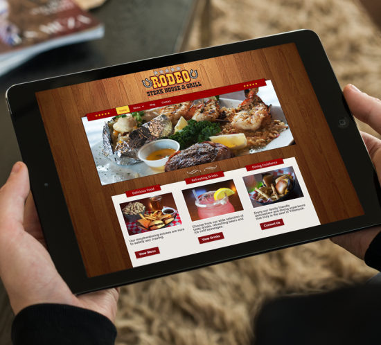 Rodeo Steak House and Grill - Oregon web design